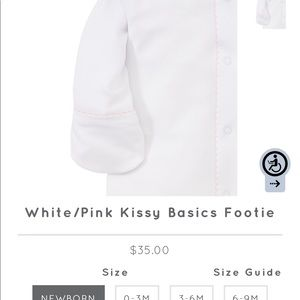 NWT, Kissy Pink and White Footie, super soft!!
